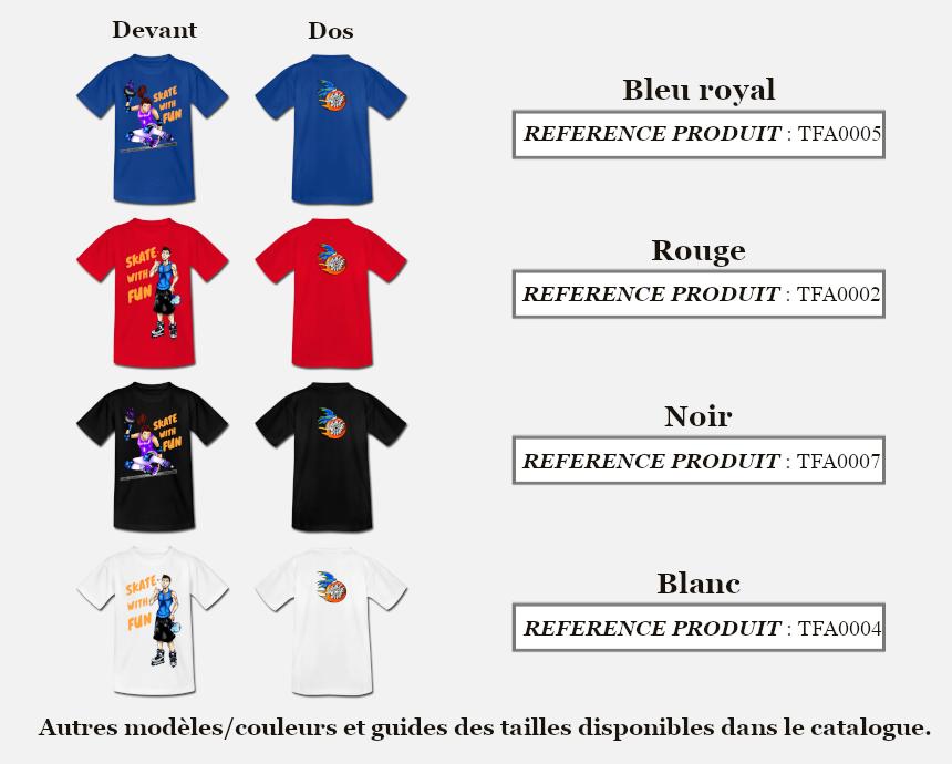 Skate With Couleurs Produit T-shirt Fun Ado