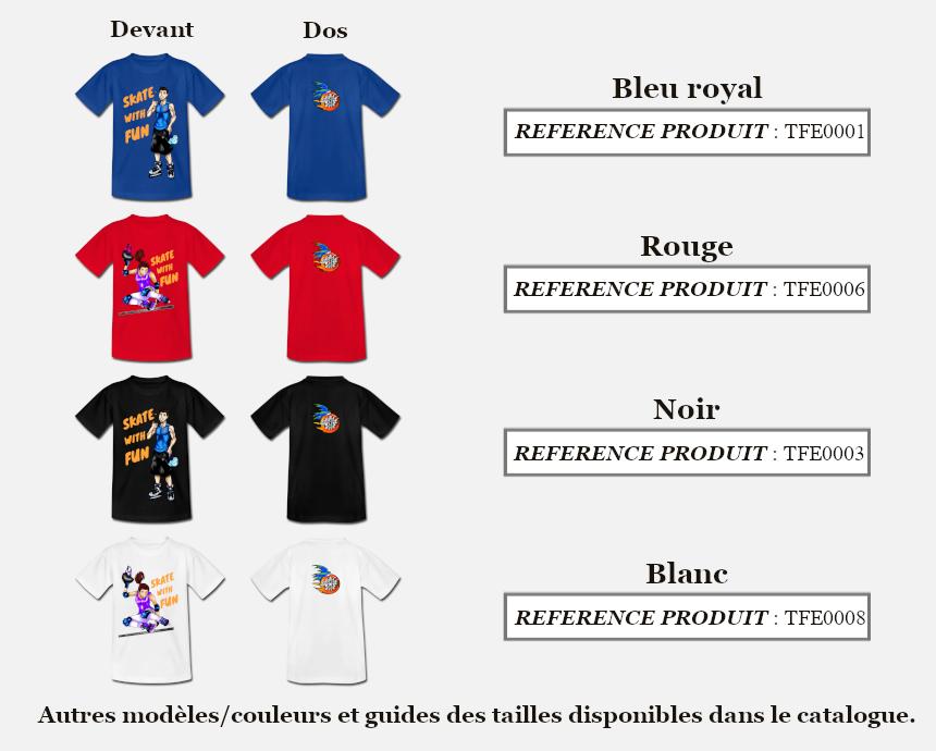Skate With Couleurs Produit T-shirt Fun Enfant