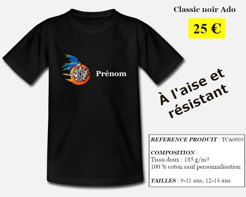 Skate With Infos Produit T-shirt Classic Ado