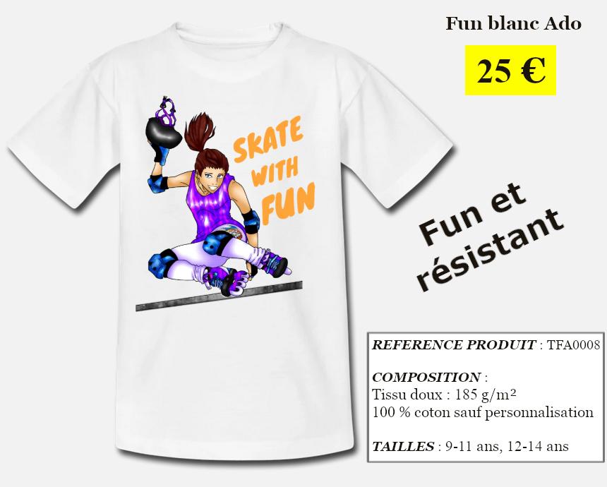 Skate With Infos Produit T-shirt Fun Ado