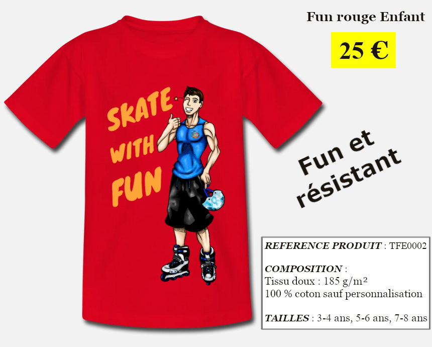 Skate With Infos Produit T-shirt Fun Enfant
