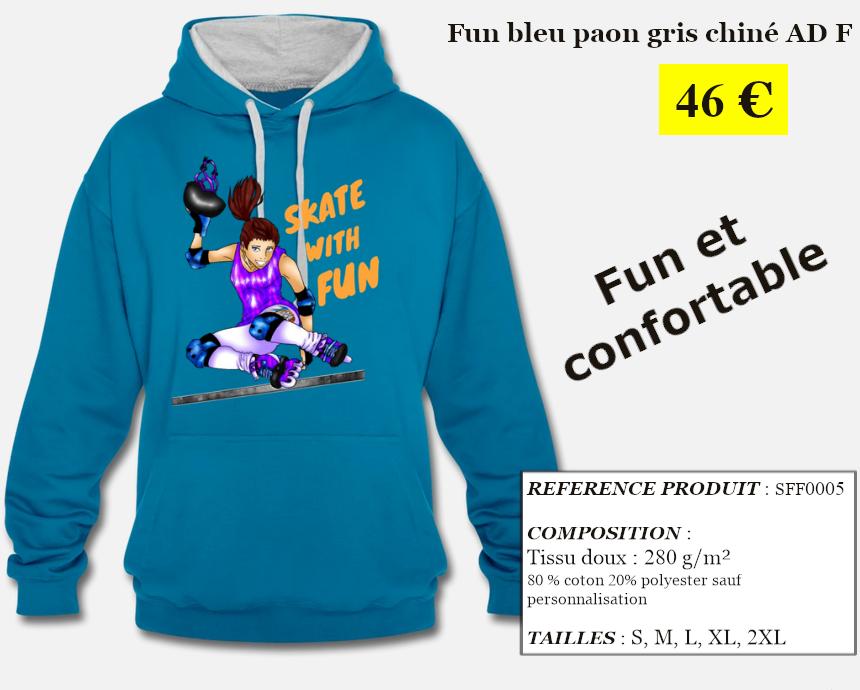 Skate With Infos Produit Sweat-shirt Fun Adulte Femme