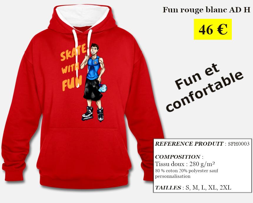 Skate With Infos Produit Sweat-shirt Fun Adulte Homme