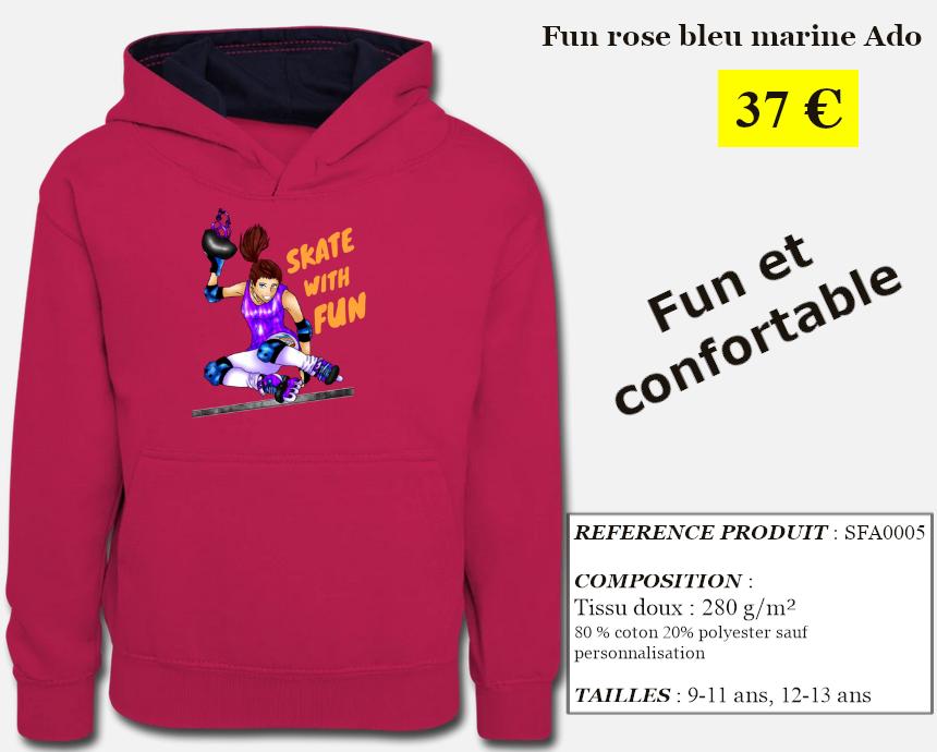 Skate With Infos Produit Sweat-shirt Fun Ado
