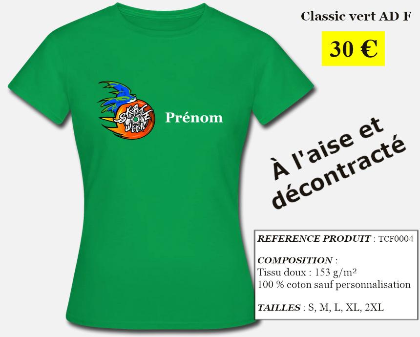 Skate With Infos Produit T-shirt Classic Adulte Femme