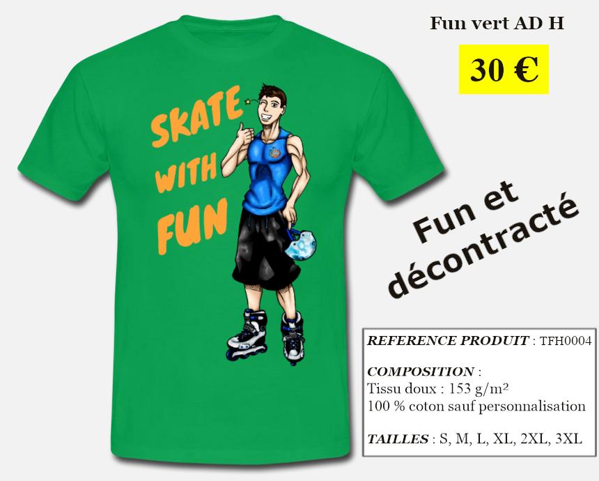 Skate With Infos Produit T-shirt Fun Adulte Homme